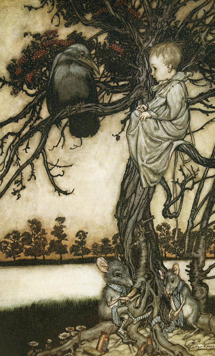 From JM Barrie's Peter Pan in Kensington Gardens illustrated by Arthur Rackham