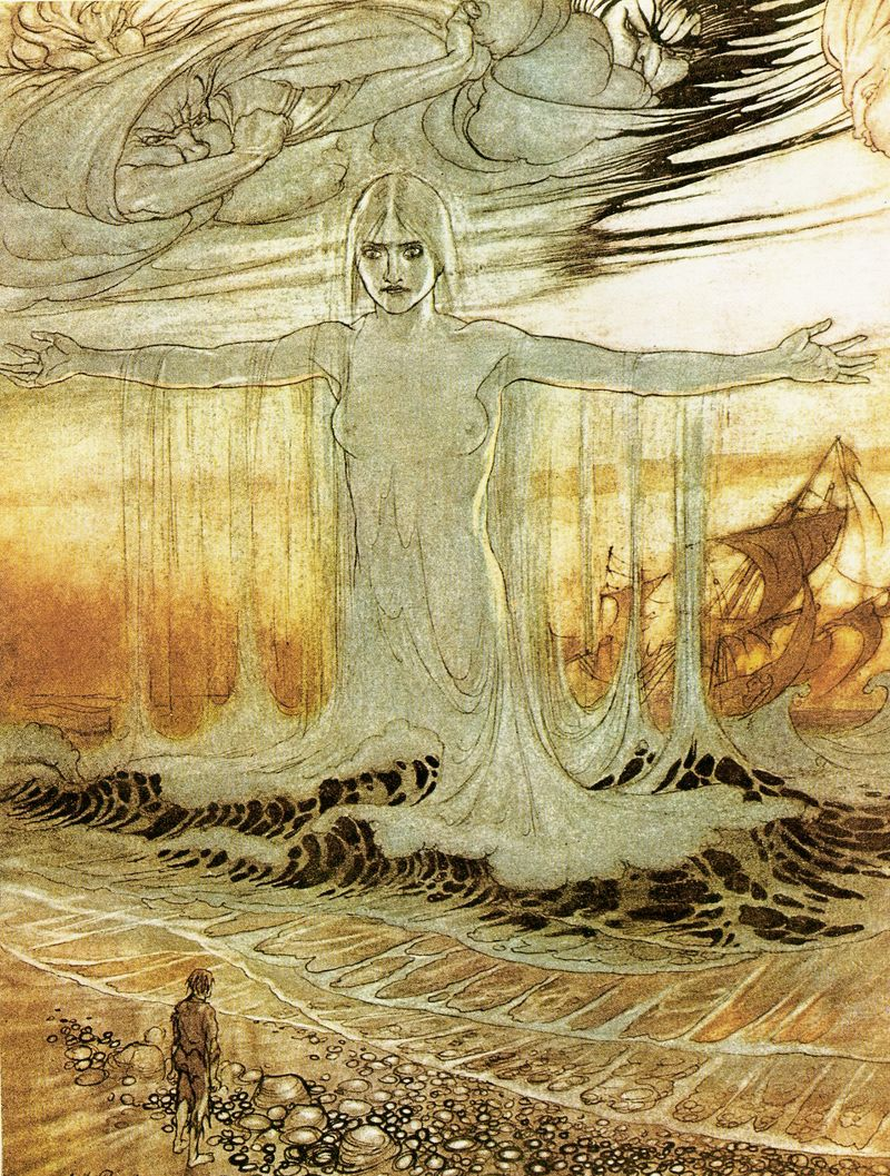The Shipwrecked Man by Arthur Rackham