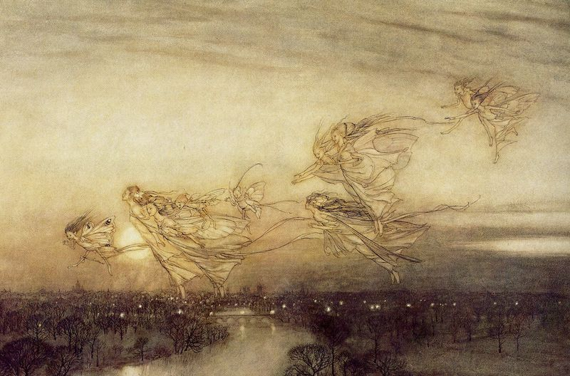 Twilight Dreams by Arthur Rackham