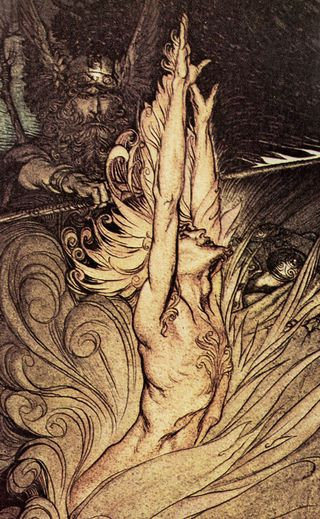 Appear Flickering Fire by Arthur Rackham