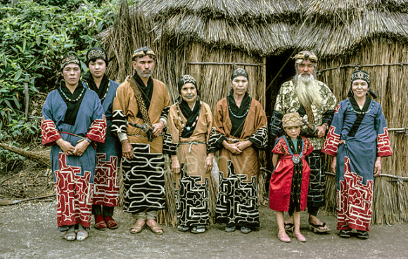 Ainu family in traditional dress, 1962