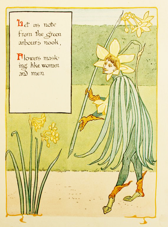 Daffodil King by Walter Crane