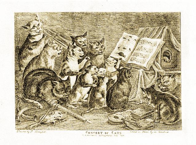 An etching after Bruegel, 1817