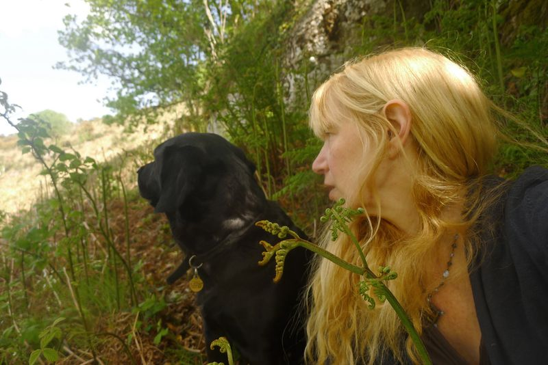 Tilly and Terri Windling on Nattadon Hill
