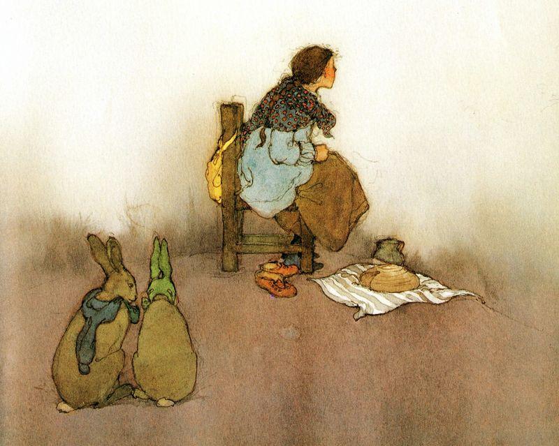 Seven Ravens illustration by Lisbeth Zwerger