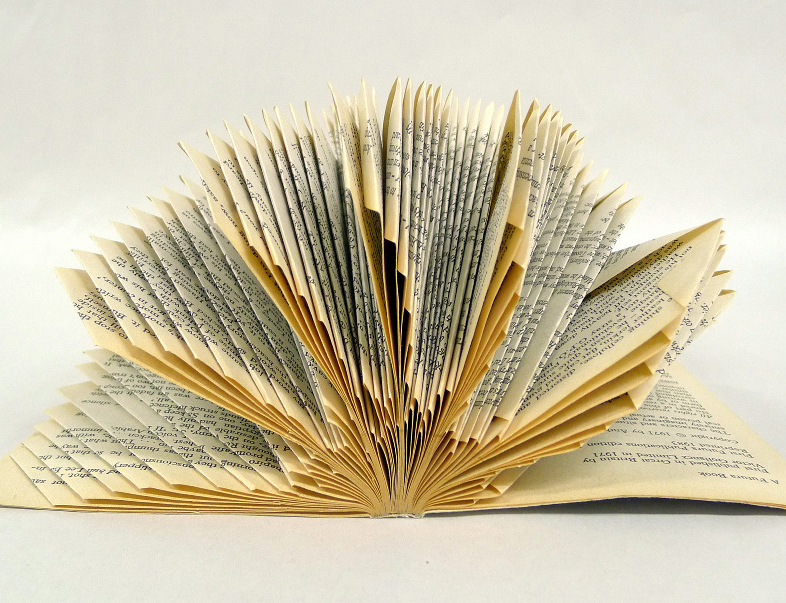 Book sculpture by Helen Baker