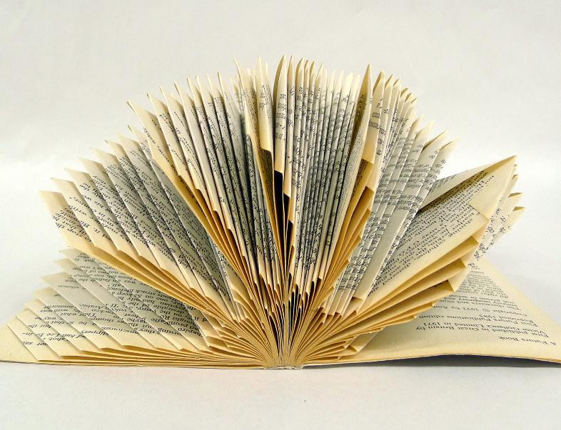 Book sculpture by Helen Baker