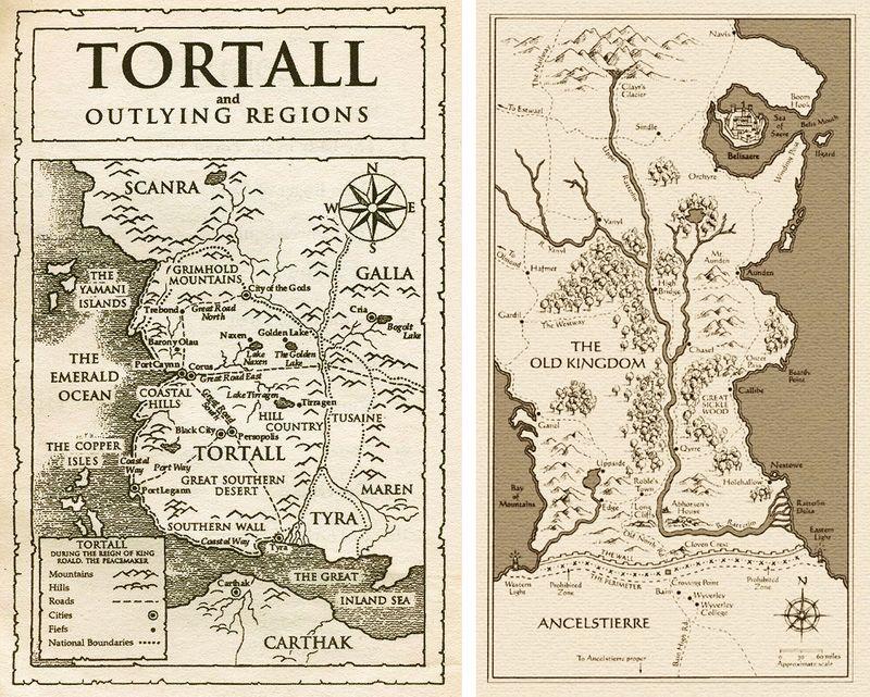 Tamora Pierce's Tortall & Garth Nix's Old Kingdom