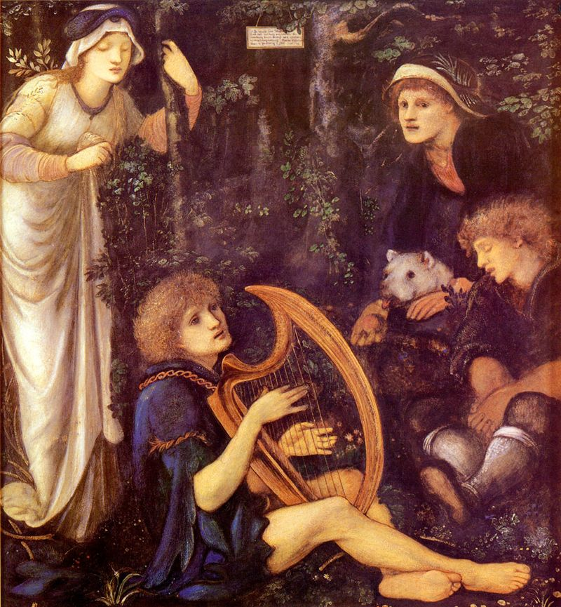 The Madness of Tristram by Sir Edward Burne-Jones