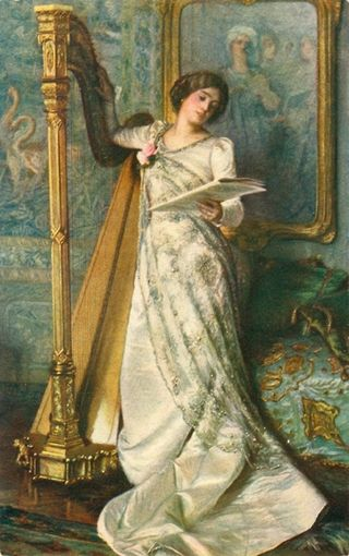 Harp Audition by Moritz von Schwin