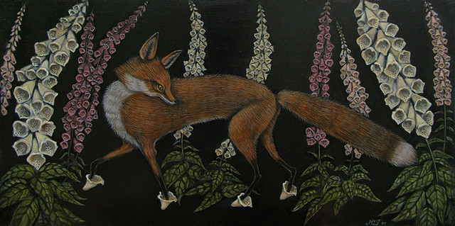 Foxgloves by Kelly Louise Judd