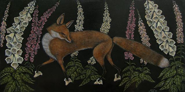 Foxgloves by Kelly Louise Judd