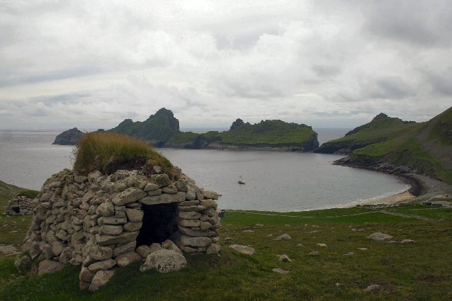 A ''cleit'' (stone hut) on St Kilda