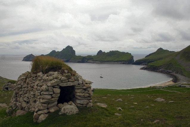 A ''cleit'' (stone hut) on St Kilda