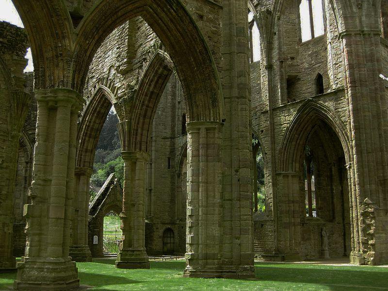 Tintern Abbey, eastern columns