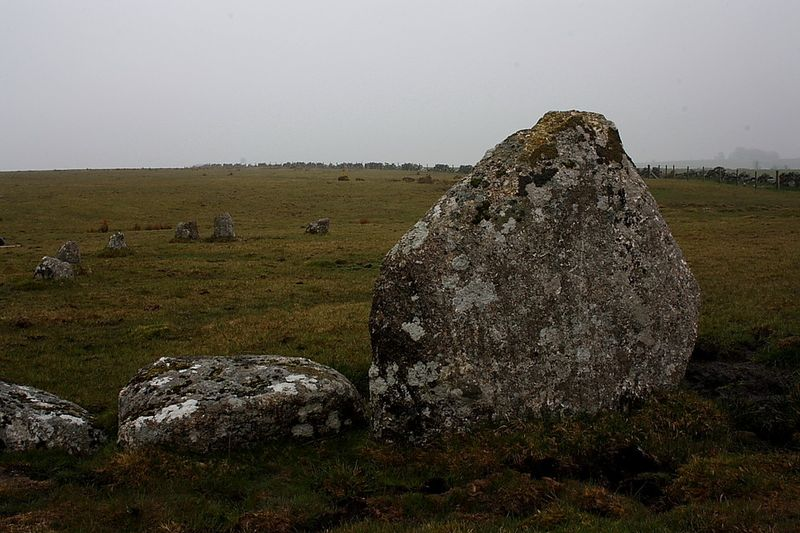 Sheraberton Stone Circle near Huccaby, photograph by Robert Gladstone