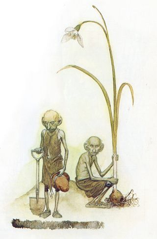 Fairy gardeners by Alan Lee