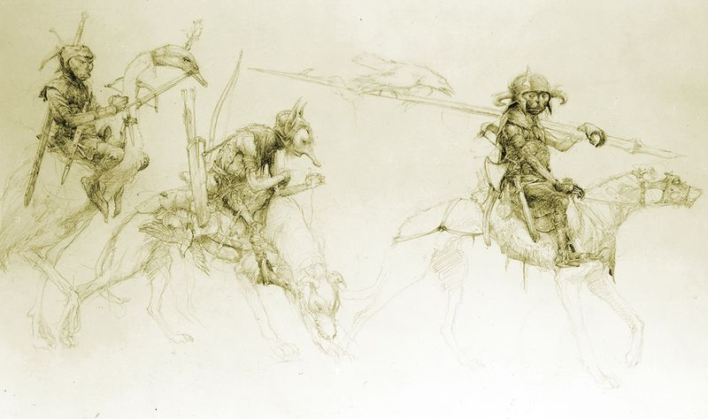 Whist hounds and a mounted goose by Alan