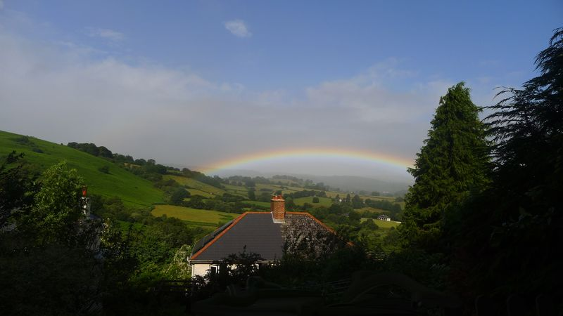 Rainbow over Chagford Commons