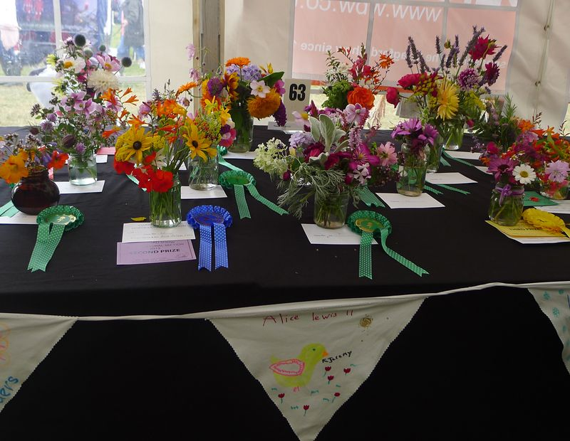 Prize-winning flowers in the children's section