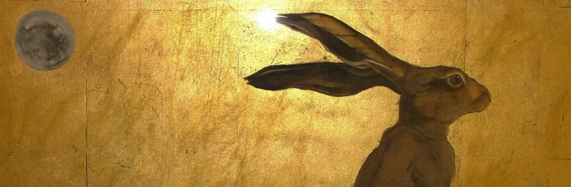 A detail from the Hare and the Moon by Jackie Morris
