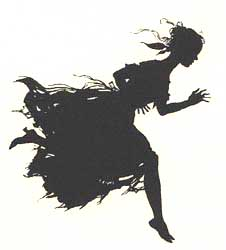 Cinderella flees the ball by Arthur Rackham