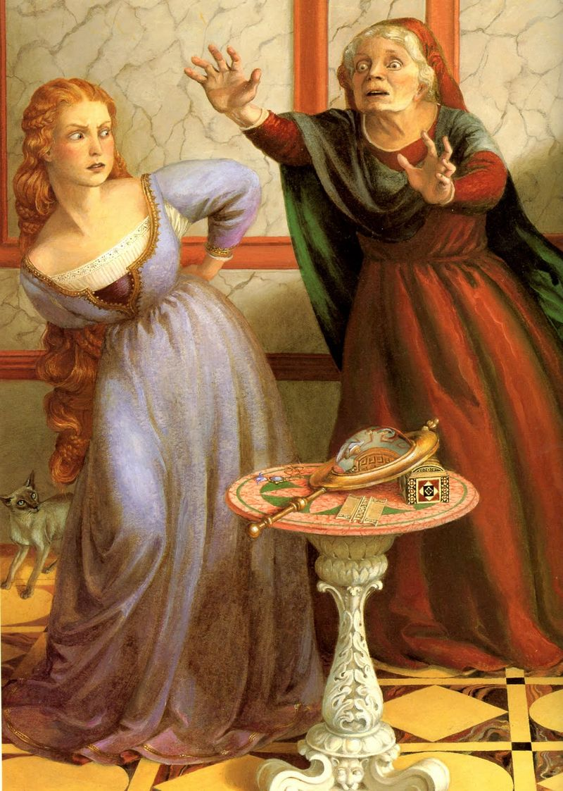 Rapunzel and the witch by Paul O. Zelinsky