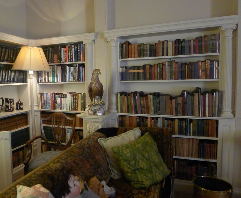 A corner of Agatha Christie's library