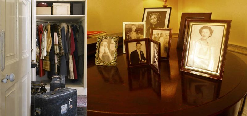 Agatha's clothes, and family pictures on the piano