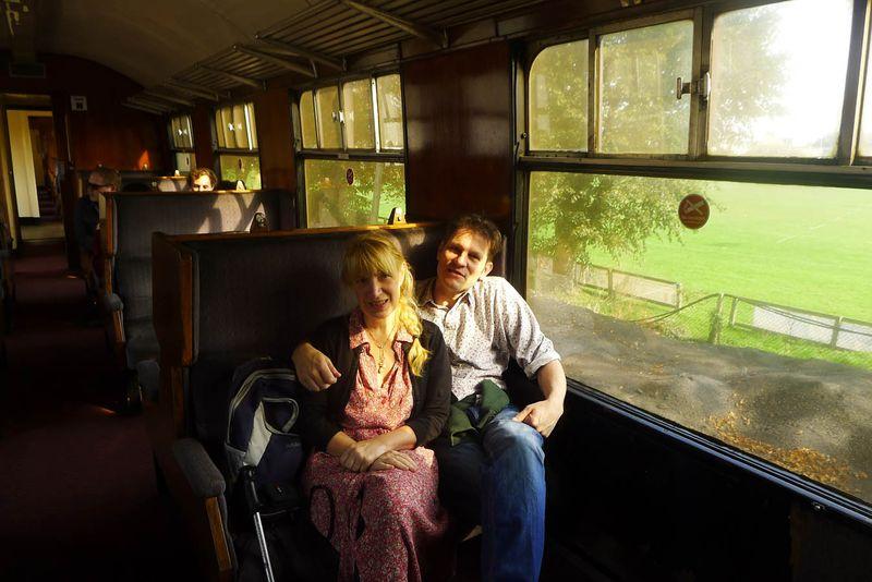 Terri Winding & Howard Gayton on the Paignton Dartmouth Steam Railway