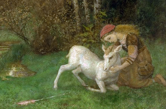 The White Hind by Arthur Hughes