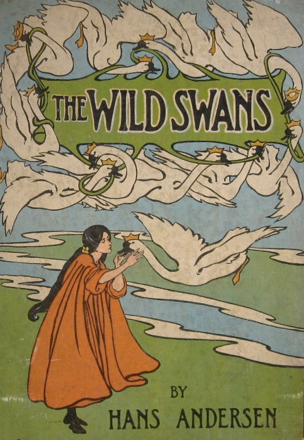 The Wild Swans cover art by Helen Stratton