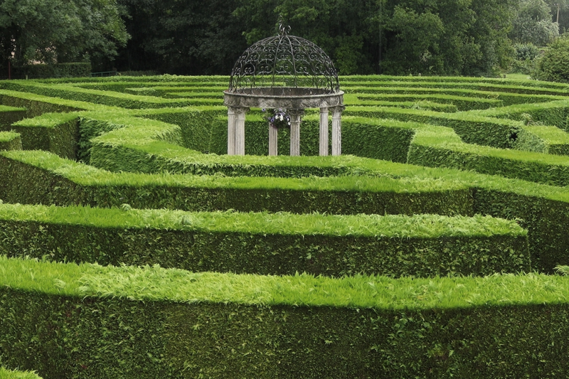 Octagonal Jubilee Maze at Symonds Yat