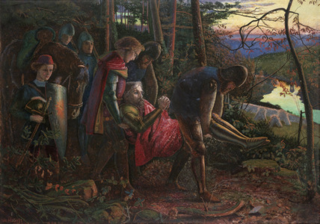 The Death of King Arthur by Arthur Hughes