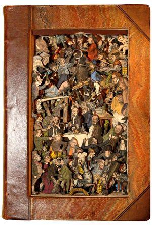 Book sculpture by Kerry Miller