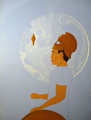 Painting in progress by Stuart Hill