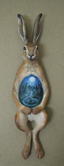 In Light of the Hare's Moon (sculpture) by Virginia Lee