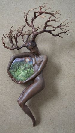Into the Path's Embrace (sculpture) by Virginia Lee