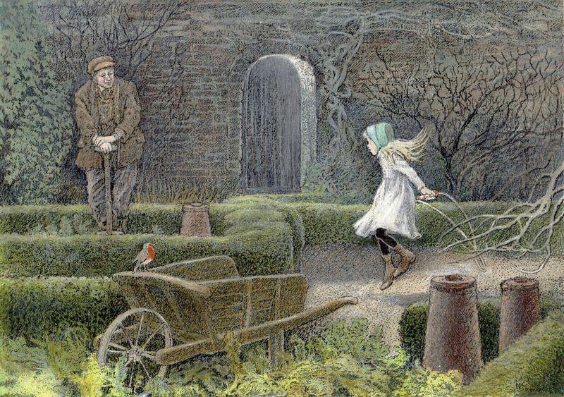 Frances Hodgson Burnett's The Secret Garden, illustrated by Inga Moore