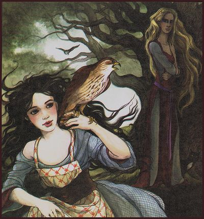 Snow White and her stepmother by Trina Schart Hyman