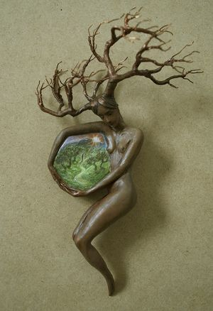 Into the Path's Embrace, sculpture by Virginia Lee