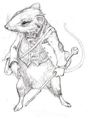 Ratty from Wind in the Willows, by Stephen Dooley
