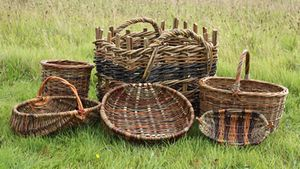 Baskets by Linda Lemieux, Wood & Rush