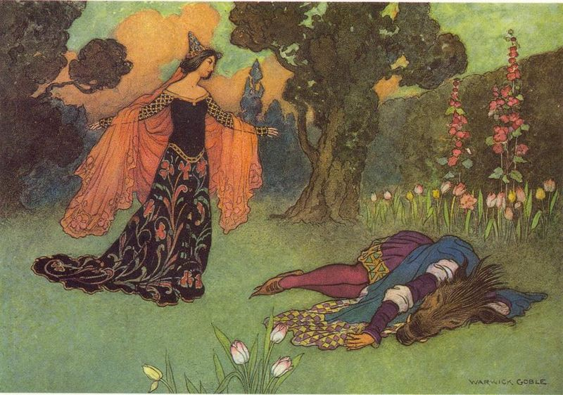 Beauty & the Beast by Warwick Goble