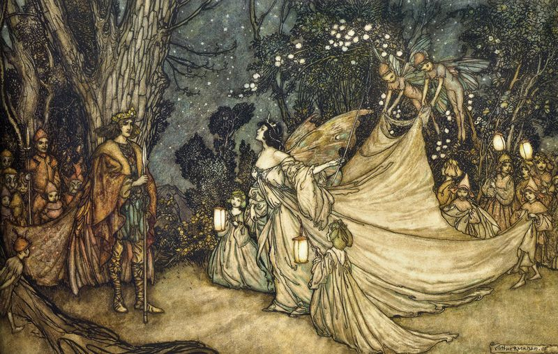 A Midummer Night's Dream by Arthur Rackham