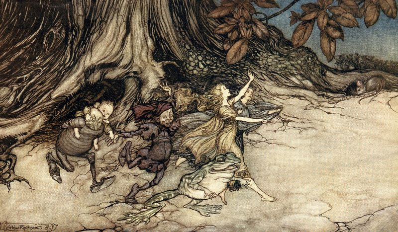 Trooping fairies by Arthur Rackham