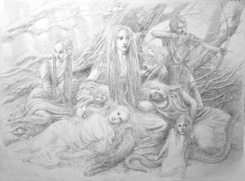 Woodland Fairies by Alan Lee