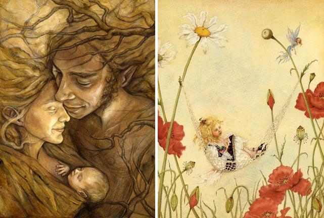 Fairy art by Julia Jeffrey and Lauren Mills
