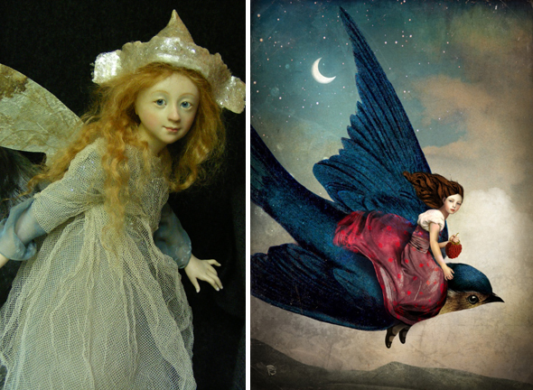 Fairy sculpture by Anna Brahams and digital art by Christian Schloe
