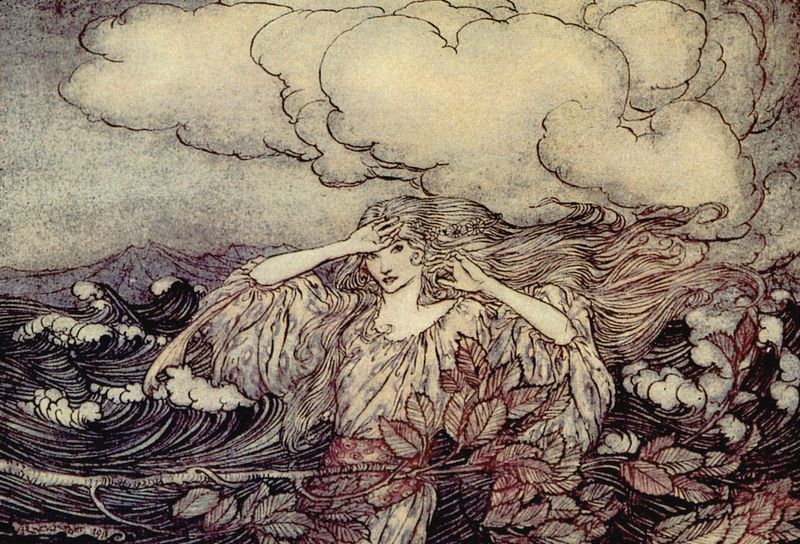 Water fairy by Arthur Rackham